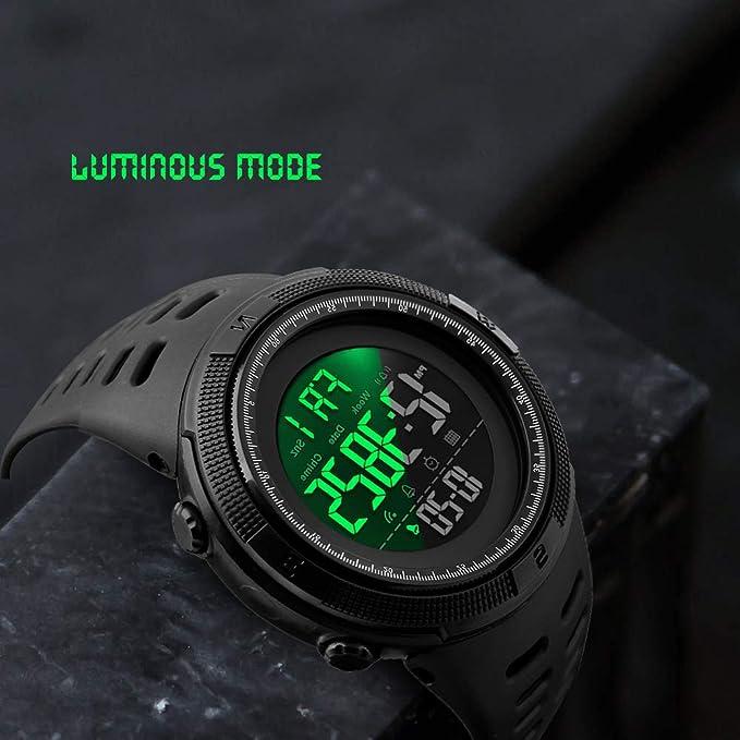 Amazon com: Men's Digital Sports Watch Waterproof Military