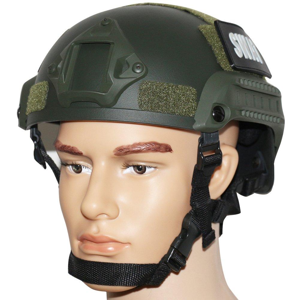 OneTigris Mich 2001 AktionVersion Taktische Helm ABS Helm f/ür Softair Paintball Armee Gr/ün