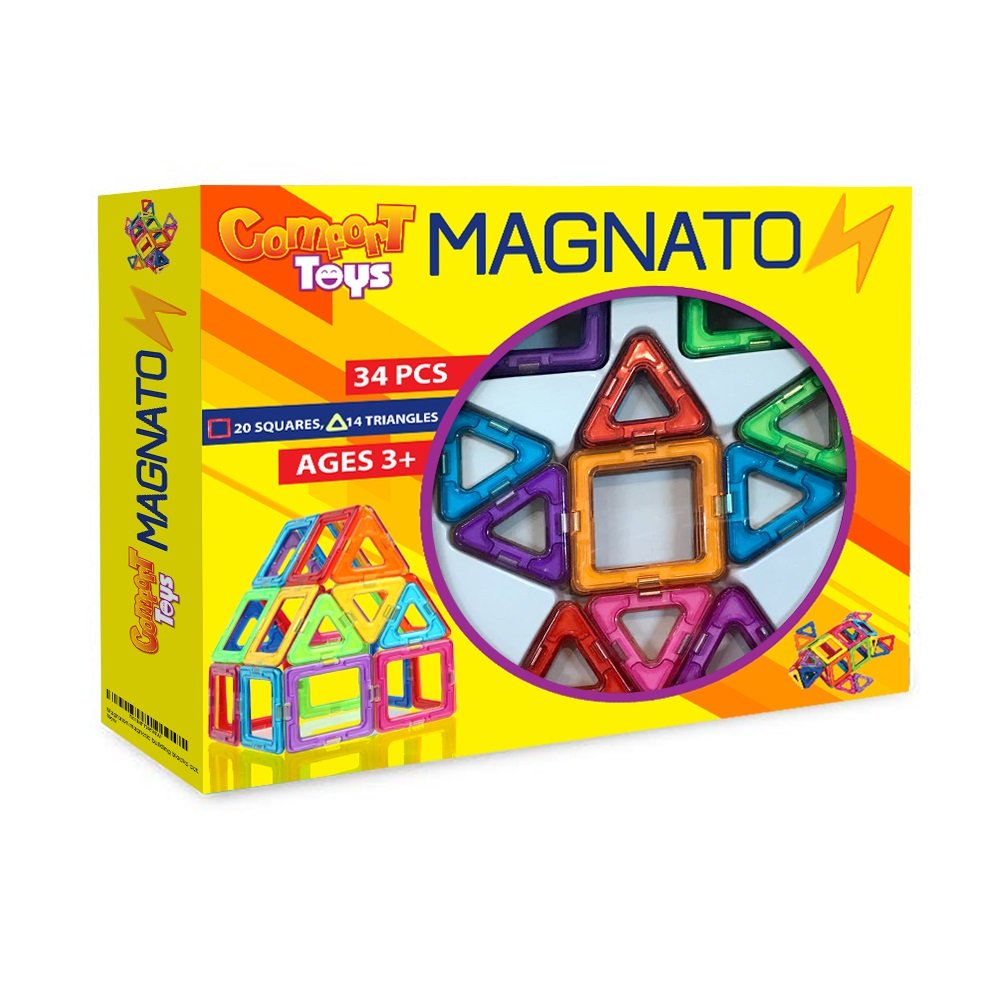MAGNATON Magnetic Building Blocks Magnet Tiles Set Kids Toys For Girls And Boys Educational And Creativity Holidays Gift Bonus Included Review
