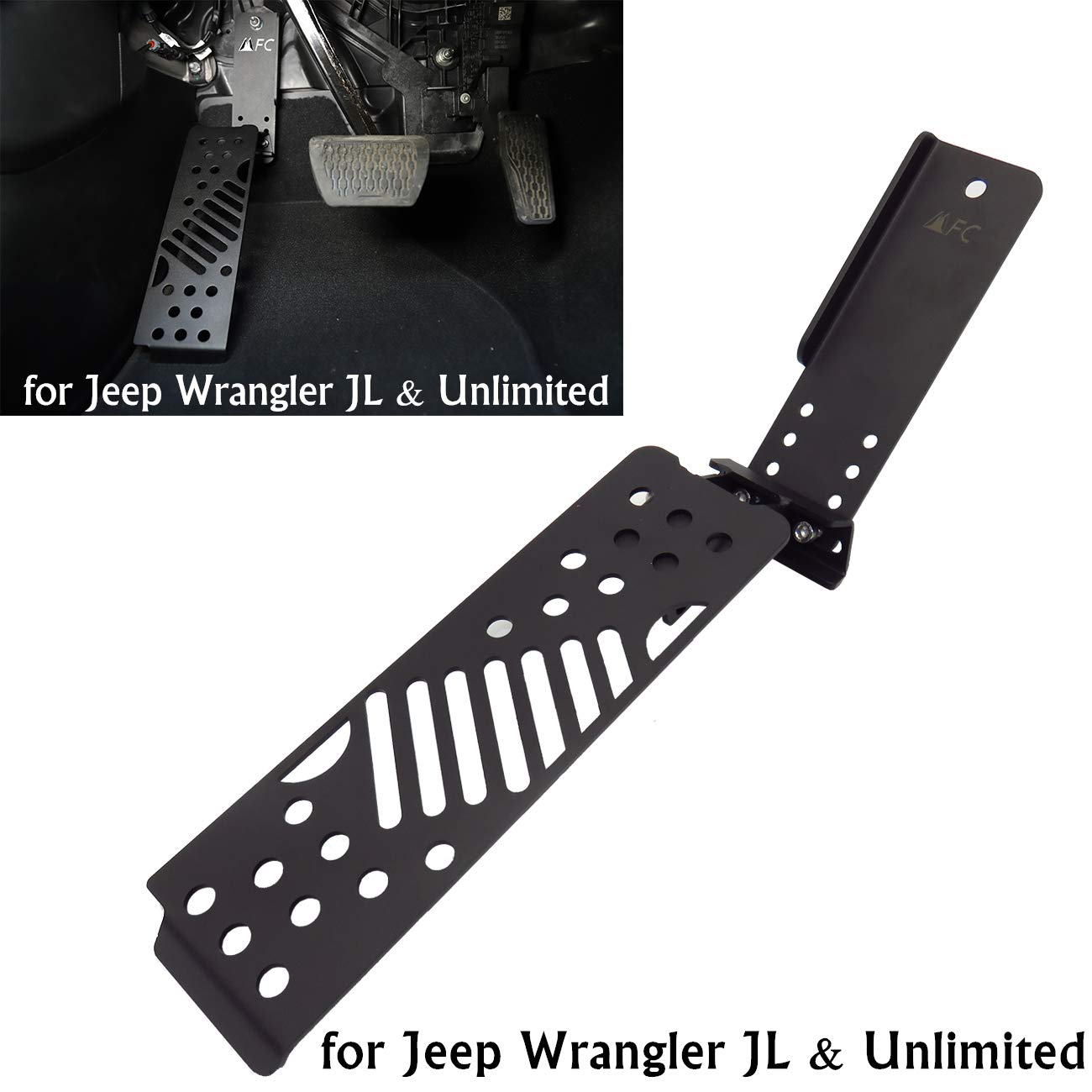 Left Foot Rest Pedal Foot Pegs Kick Panel for Jeep Wrangler JL/& Unlimited 2018-2019