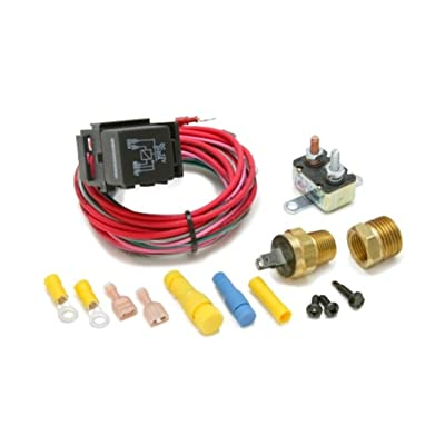 Painless Performance 30114 Dual Activation Electric Fan Relay Kit with Thermostatic Switch (On 195/Off 185): Automotive