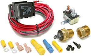 Painless Performance 30114 Dual Activation Electric Fan Relay Kit with Thermostatic Switch (On 195/Off 185)