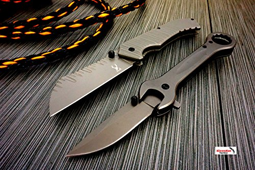 NEW 2 Pc Wrench and Cleaver Tactical SPRING ASSISTED Open FO