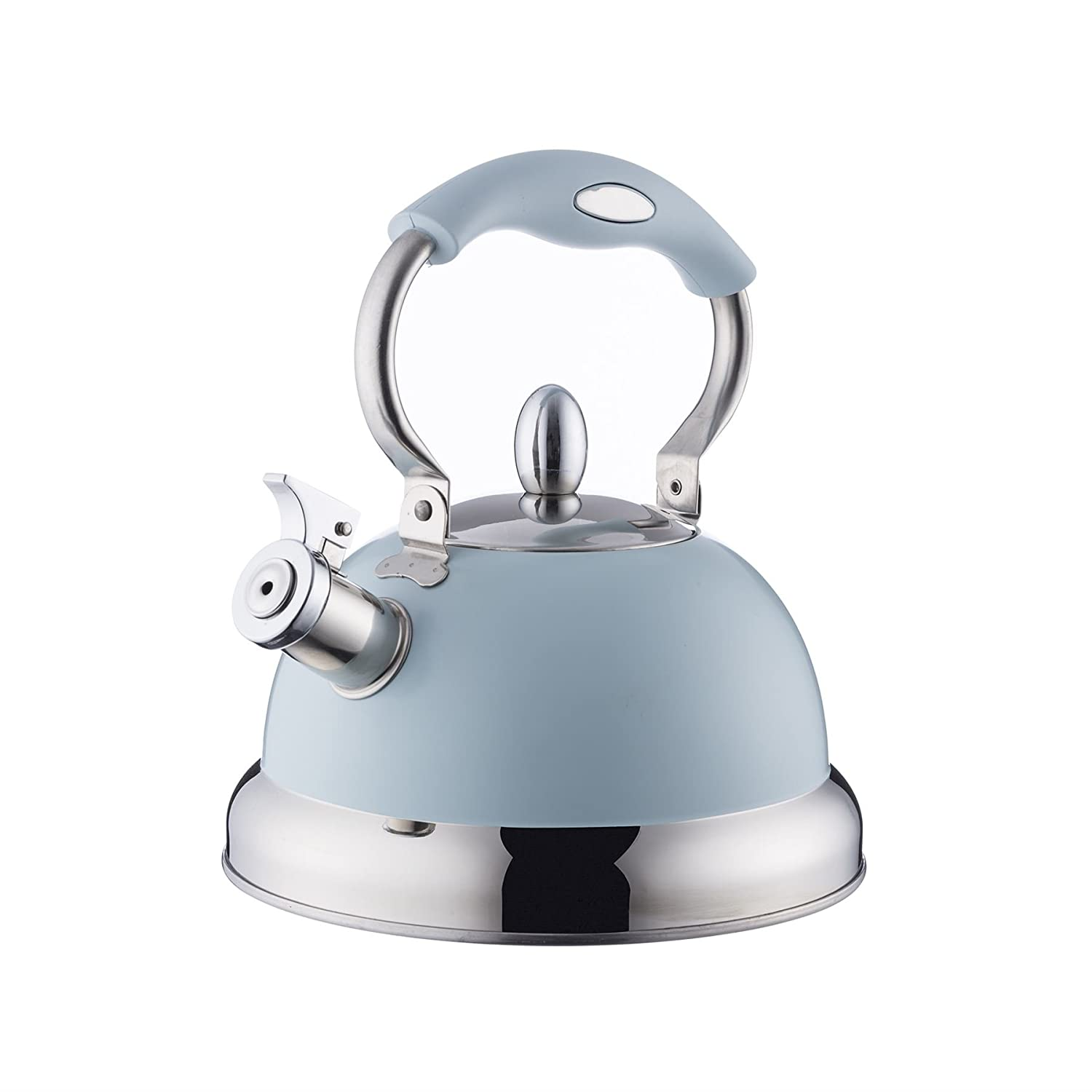 BLUE 2.5L STOVE TOP KETTLE WHISTLE ALL HOBS 22CM X 24.5CM X 26.5CM