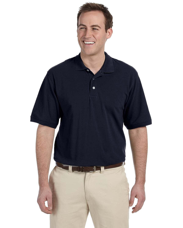 Harriton Mens Easy Blend Pique Polo Shirt