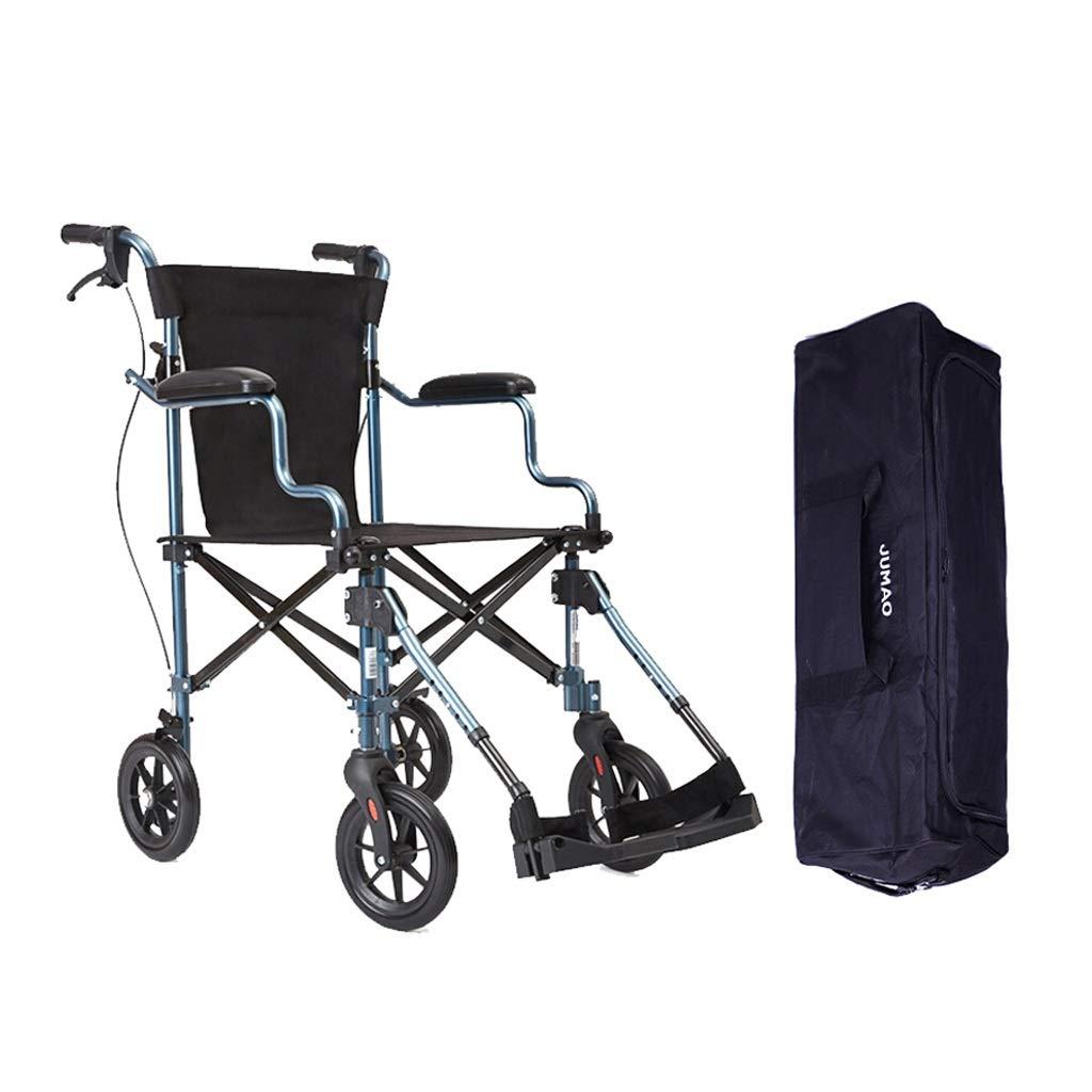 【テレビで話題】 旅行用車椅子 - 折りたたみ式超軽量旧車椅子バリアフリー旅行用ポータブル車椅子ハンドブレーキ (色 - : ブラック ブラック) ブラック B07NXZJ46X B07NXZJ46X, PANACEA:e82538a0 --- a0267596.xsph.ru