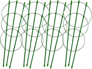 """Snow Deer Tomato Cages for Garden 18"""" Plant Support Large Size Plant Trellis for Climbing Plants"""