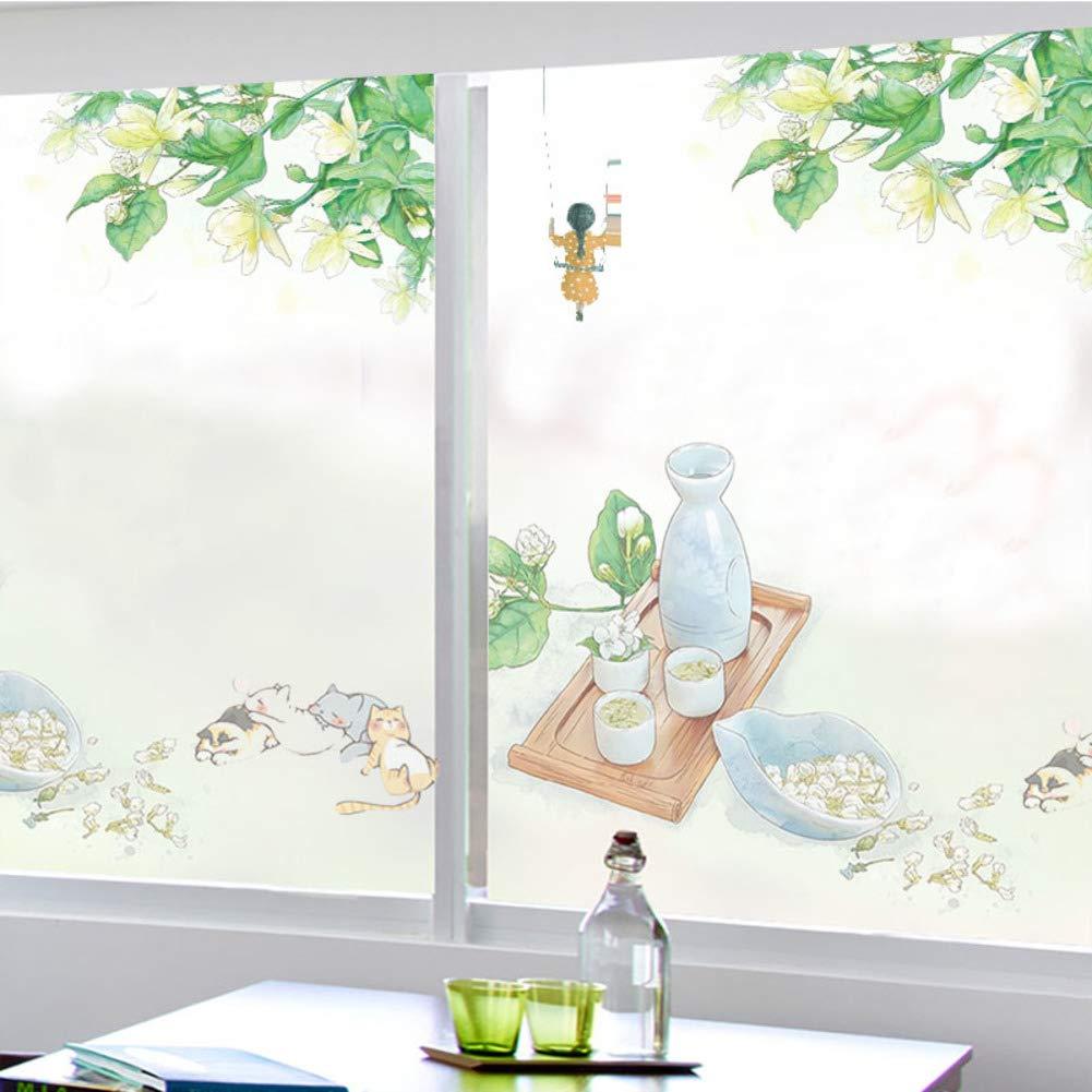 HAOLY 静電気マットウィンドウガラスフィルム ステッカーシェーディング 不透明浴室 ホーム キッチン バスルームステッカー 180x80cm(71x31inch) tnyuld3-A180x80cm(71x31inch) B07HNX4PSG A 180x80cm(71x31inch)
