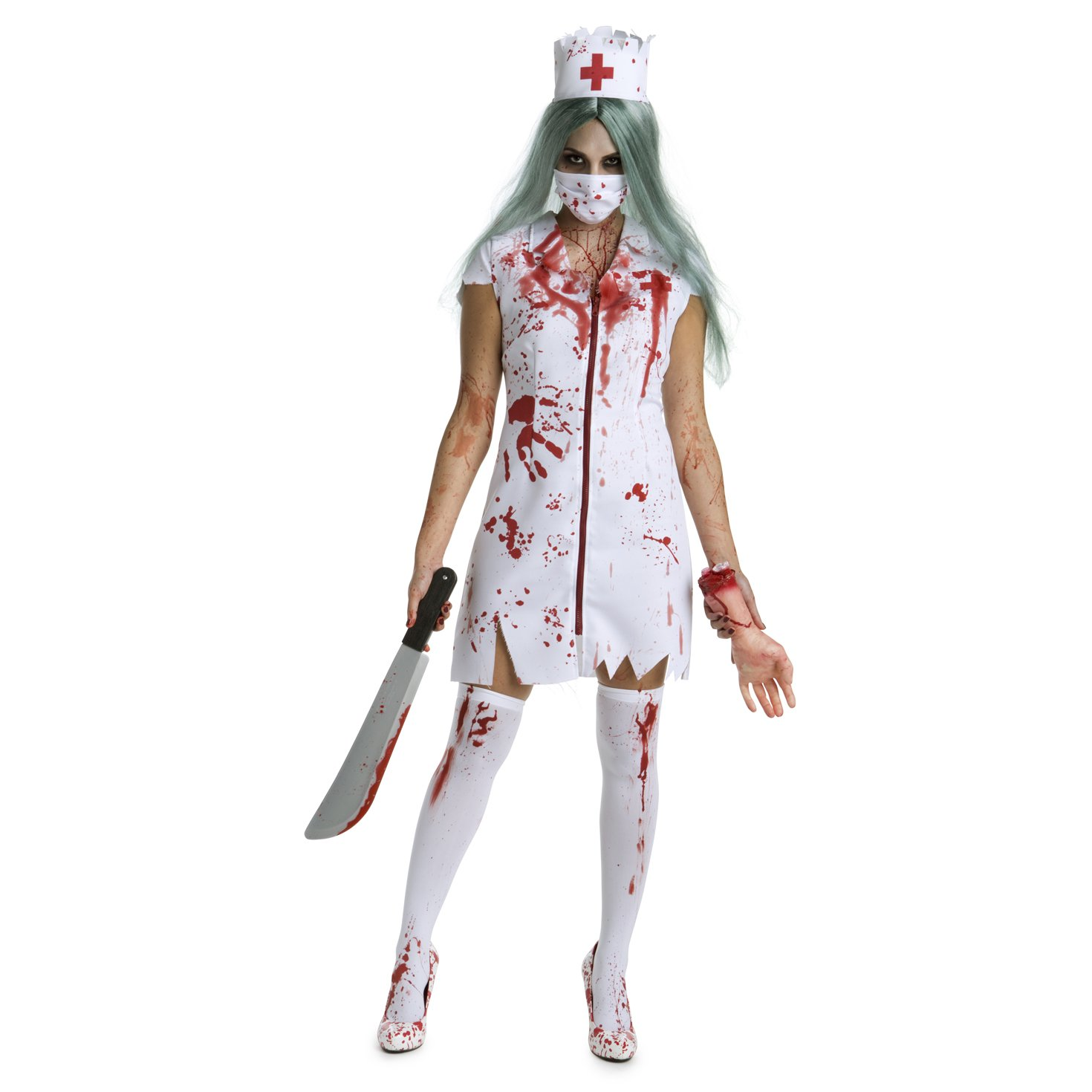 1522e1bfc9986 Amazon.com: Womens Zombie Nurse Costume Adult Bloody Sexy Horror Quality  Dress Up for Women: Clothing