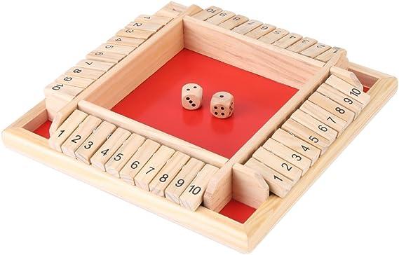 Juego de Mesa de Madera Educativo Tablero de números de Madera Familia Juego Tradicional Dados de Juguete Juguete para niños, niñas, niños, Adultos: Amazon.es: Hogar
