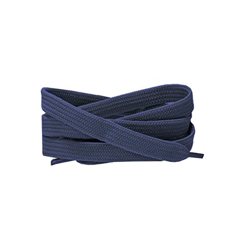 c40e1e3efd61 Coloured Flat Shoe Laces 120cm Long For Trainers Skate Shoes Shoes Boots  Converse Nikes Converse Pumas Shoelaces Laces are 120cm long 10mm wide  (Navy)  ...
