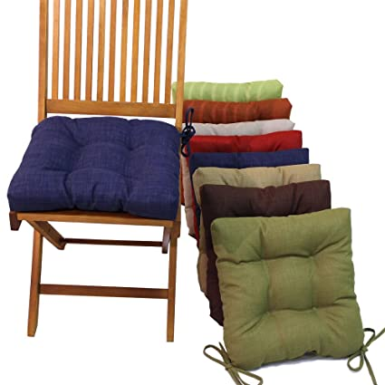 Amazon Com Blazing Needles 16 Patio Chair Cushion With Ties Set