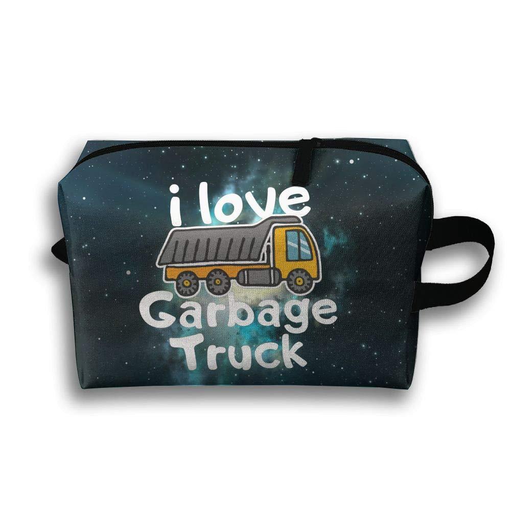 I Love Garbage Trucks Travel Bag Multifunction Portable Toiletry Bag Organizer Storage
