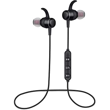 Bluetooth Headphones Wireless Earbuds 4.2 Magnetic Bluetooth Earphones Lightweight Earbuds with Mic Stereo in-Ear Earphones Sports Headset Compatible Samsung, Nexus, HTC and More
