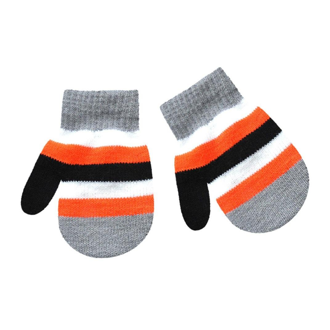 Infant Baby Gloves, TRENDINAO Toddler Girls Boys Solid/Multicolor Print Warm Gloves for Ages 1-4 Years