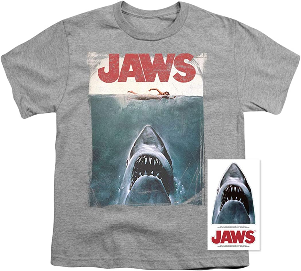Jaws Movie Great White Shark Swimming DAY GLOW BOYS /& GIRLS T-Shirt S-XL