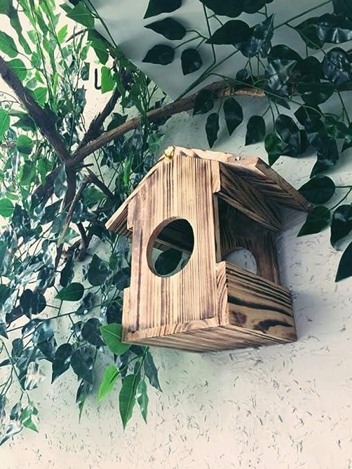 Ailihan Comedero para pájaros de Madera con Adorno de jardín para jardín al Aire Libre: Amazon.es: Jardín
