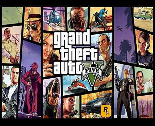 Grand Theft Auto GTA 5 Edible Cake Topper Frosting 1/4 Sheet Birthday Party (Gta Cake)