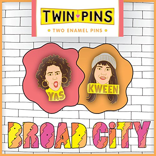 Broad City Twin Pins: Two Enamel - Pin Swag Brooch