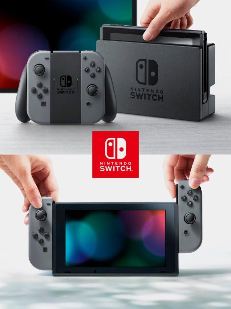 Nintendo Switch 3 items Bundle: Nintendo Switch 32 GB consola gris ...
