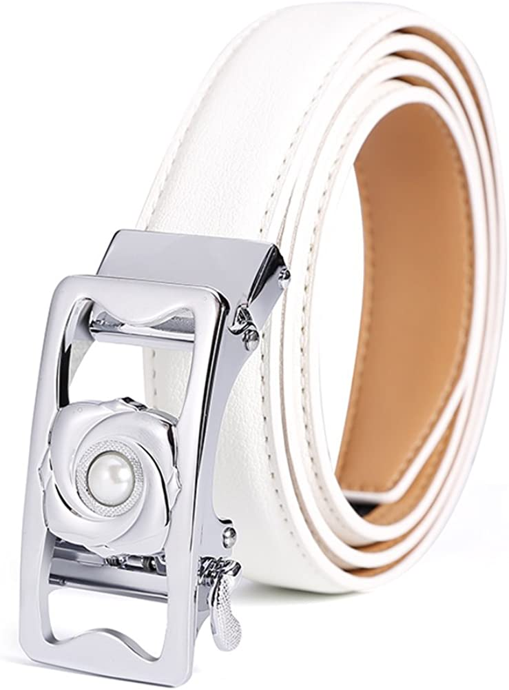 37inch Simple Belt Automated Deduction//Joker Decorated Belts//Fashion Casual Belts-white 95cm