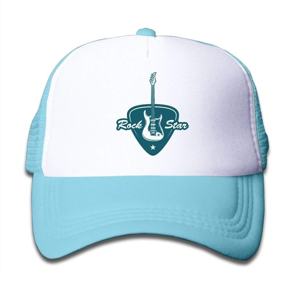 FEAIYEA Guitar Pick Child Baby Kid Mesh Caps Adjustable Trucker Hats Summer Snapback