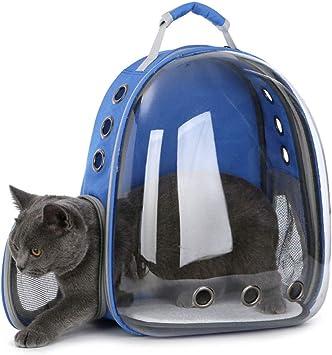 LELUN Bubble Cats Mochilas Perro Pequeño Sporty Pet Cat Backpack Carrier PU Soft-Sided Mochila Portátil con Almohadilla De Felpa Puede Contener 6,5 Kg De Gato O 5 Kg Perro,Blue: Amazon.es: Deportes y