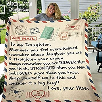 Daughter Thanks For All The Special Little Things You Do Fleece Blanket Details about  /Mom