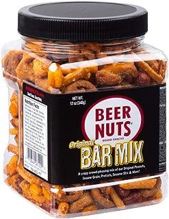 product image for BEER NUTS Original Bar Mix - 12 oz Resealable Jar, Pretzels, Cheese Sticks, Sesame Sticks, Roasted Corn Nuts, and Original Peanuts