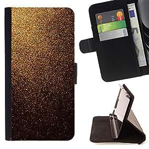- Sparkling Gold Glitter Imitation - Estilo PU billetera de cuero del soporte del tir???¡¯????n [solapa de cierre] Cubierta- For Samsung Galaxy S4 IV I9500 £¨ Devil Case £©