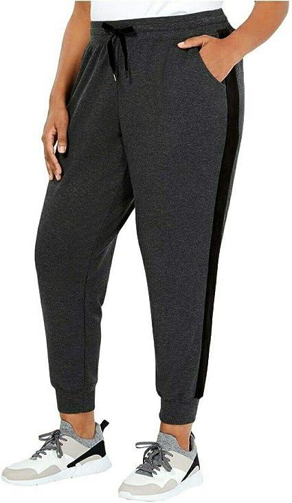 Ideology Women/'s Black Comfort Waist Pull On Soft Jogger Pants Sizes 2X /& 3X $54