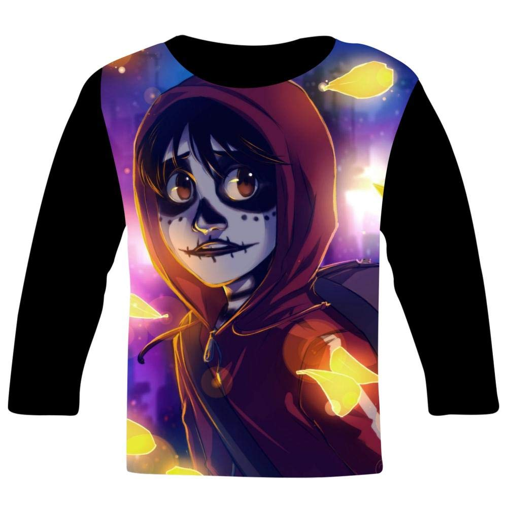 Kid//Youth Mi-guel Co-Co T-Shirts 3D Long Sleeve Tees for Girls Boys
