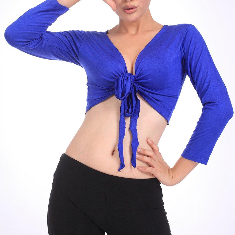 BellyLady Belly Dance Long-sleeve Wrap Top Banadge Top, Gift Idea ABDH-EG06908_BLACK