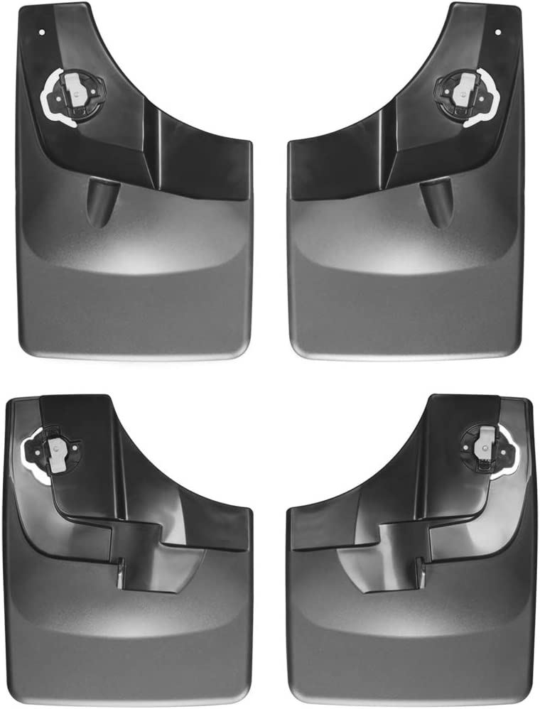 WeatherTech Custom MudFlaps for Ford F-150 Front /& Rear Set Black 110044-120044