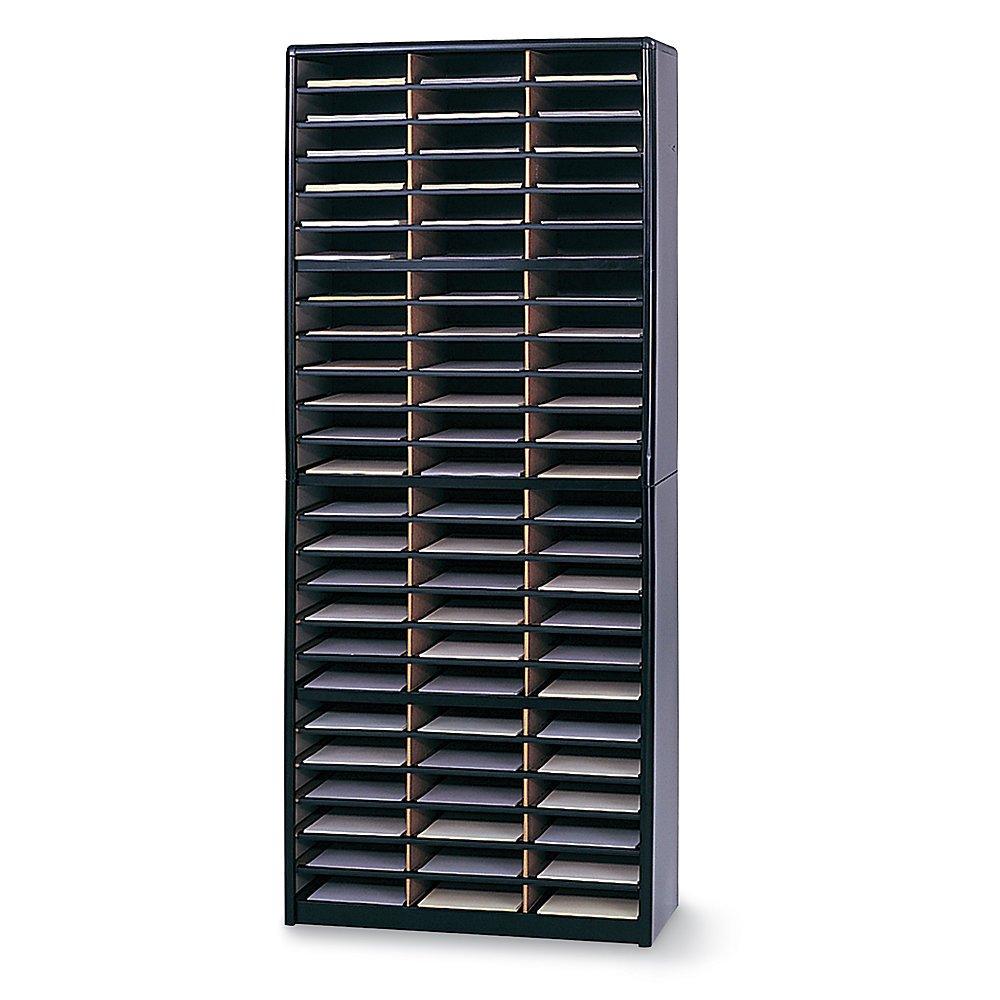 Safco Value Sorter Organizer - 32-1/4 X13-1/2 X75'' - 72 Compartments - Black