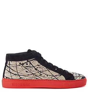 Hide And Jack Sneaker Hide&jack High Top Red Hole Rosse E Nere