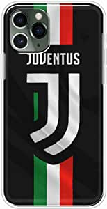 Okteq Clear TPU Protection and Hybrid Rigid Clear Back Cover Case Printed Compatible with Apple Iphone 11 Pro - juventus grey By Okteq