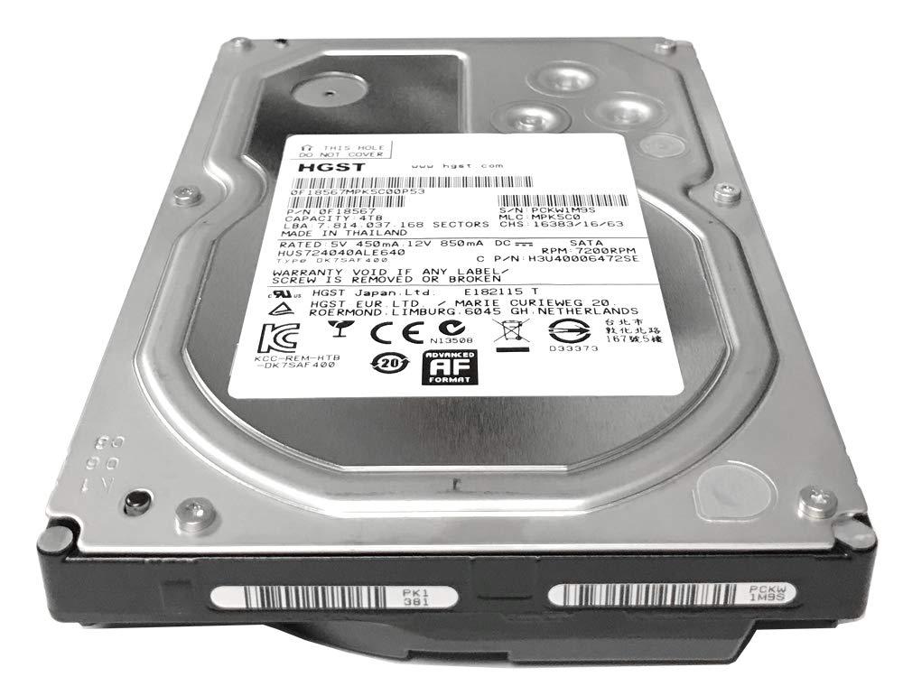 HGST Ultrastar 7K4000 (0F18567) 7200RPM SATA 6.0Gb/s 4TB 64MB Cache 3.5inch Internal Hard Drive - 3 Year Warranty (Renewed) by HGST (Image #2)