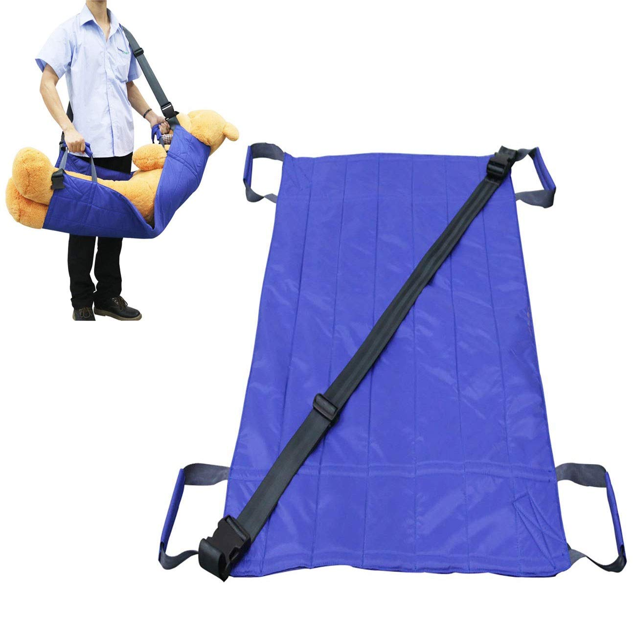 YxnGu Transfer Boards Slide Belt - Patient Lift Bed Assistance Devices - Patient Transport Lift Sling - Waterproof Positioning Bed Pad with 8 Handles (Size : 10572cm) by YxnGu