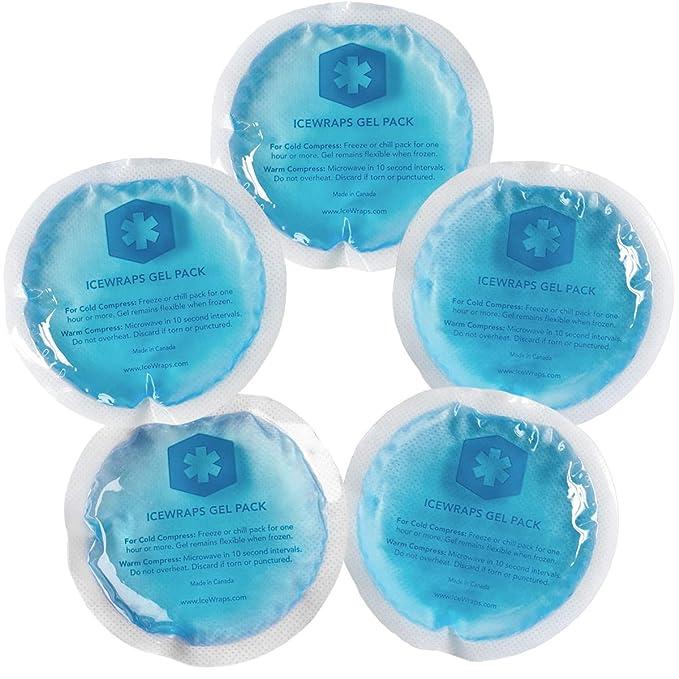 IceWraps Ronda reutilizable Gel bolsas de hielo con forro de paño ...