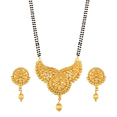 I Jewels Traditional Ethnic One Gram Gold Plated Mangalsutra Jewellery Set with Earrings for Women D058  sc 1 st  Amazon.in & Buy I Jewels Traditional Ethnic One Gram Gold Plated Mangalsutra ...