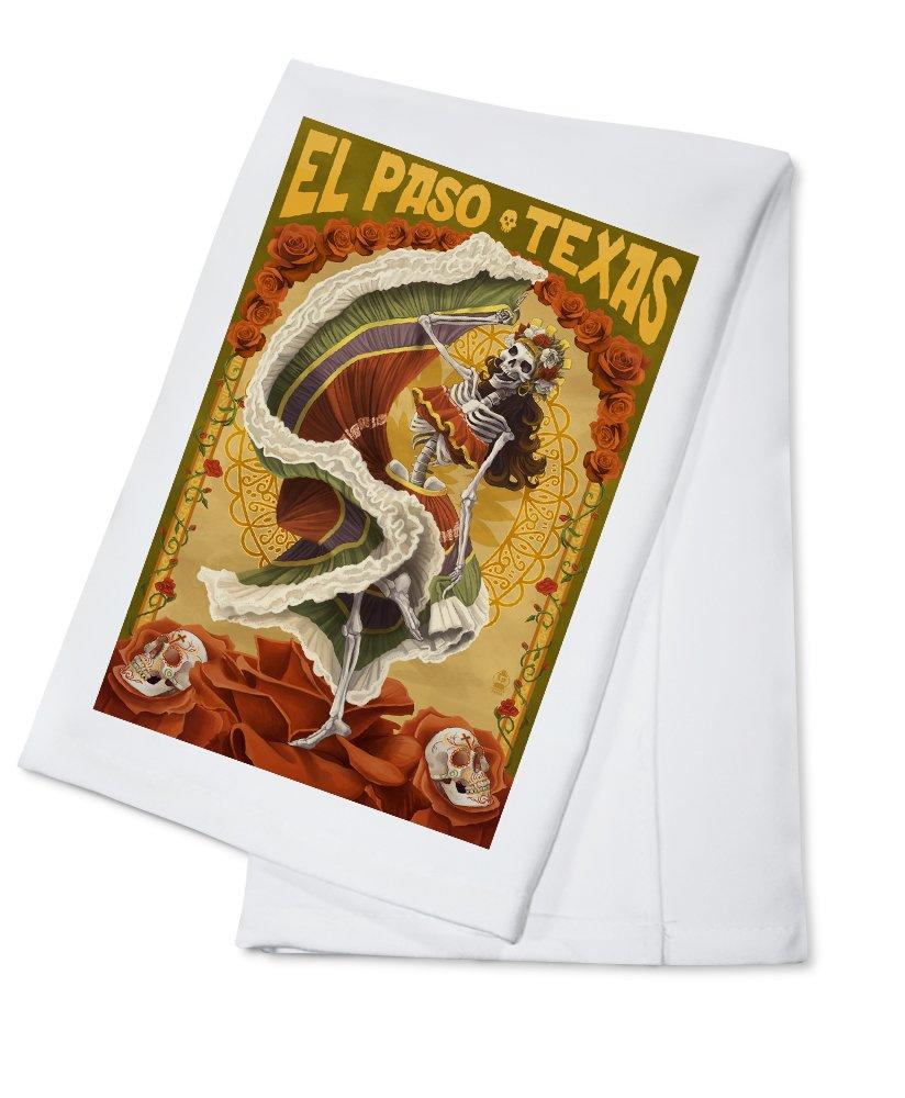 エルパソ、テキサス – Day of the Dead Dancer Cotton Towel LANT-44056-TL B018OBFUJC  Cotton Towel