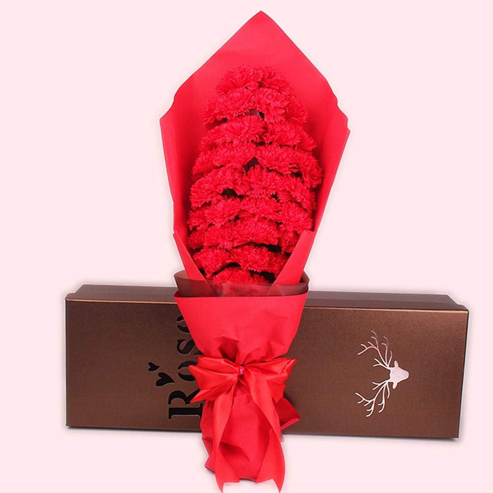 SXLWW Jabón De Clavel En Conserva, 33 Rosas En Caja De Regalo De Decoración De Boda De Cumpleaños De San Valentín