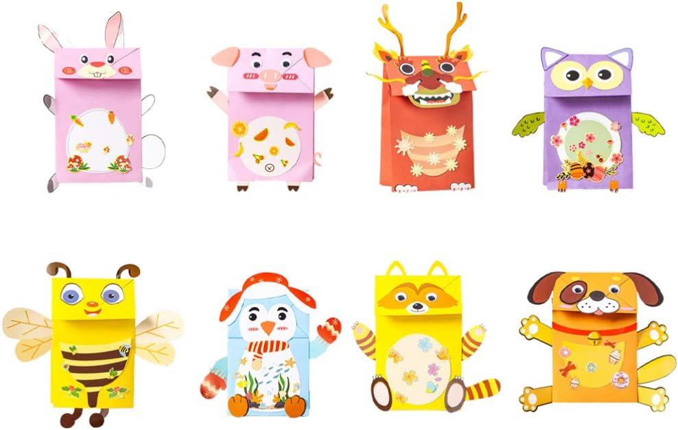 TOYANDONA 8 Piezas de Marionetas de Papel Muñeca Narrativa Muñeca de Dedo Muñeca Diy Fabricación de Animales Juguetes de Papel para El Jardín de Infantes de La Escuela en Casa (Estilo Aleatorio)