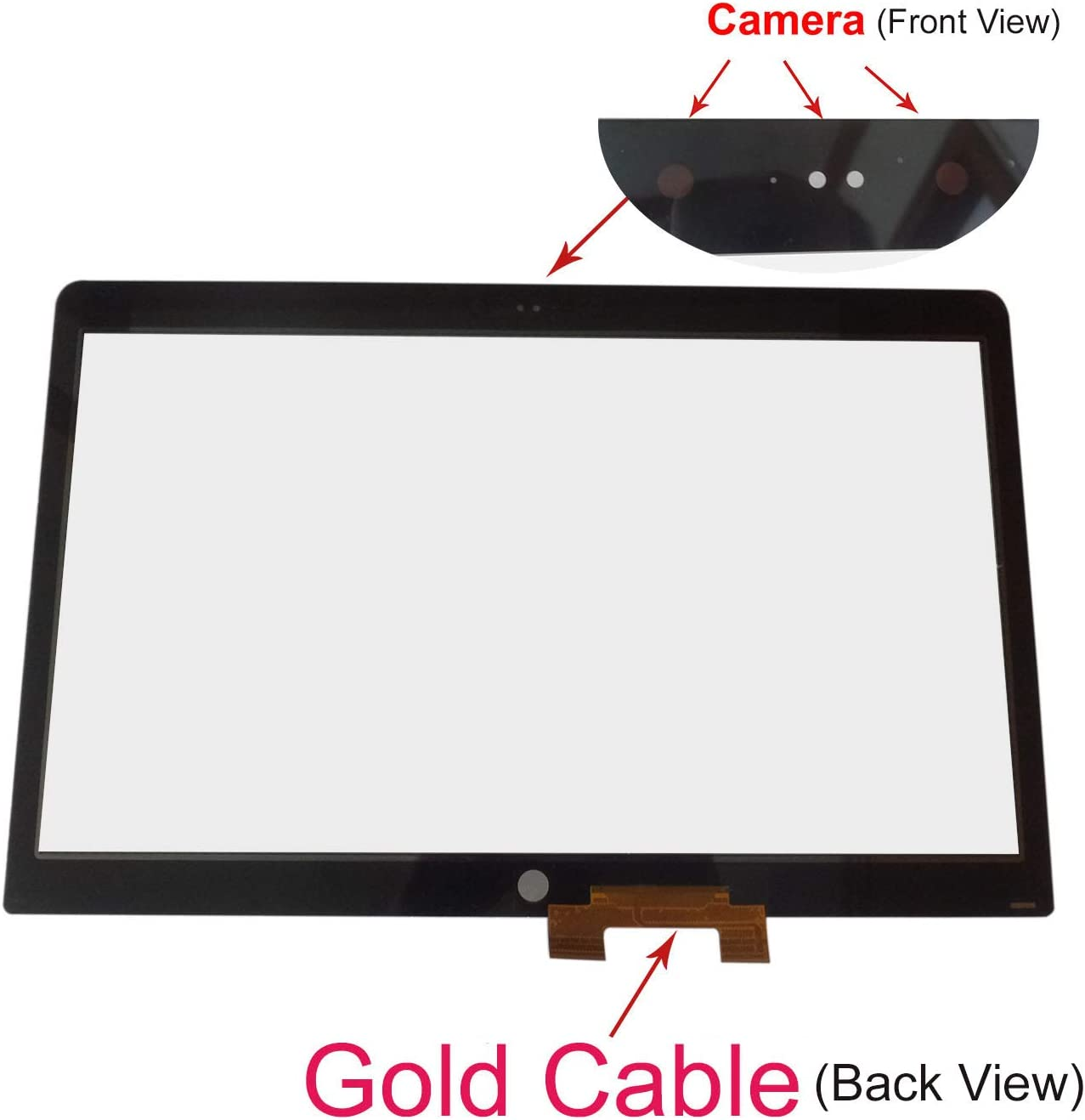 """Krenew 17.3"""" Touch Screen Replacement Front Touch Glass Digitizer for HP Envy 17-U153NR 17-U011NR 17-U163CL 17-U273CL 17-U110NR 17-U175NR 17-U100 17-U220NR (Gold Cable)"""