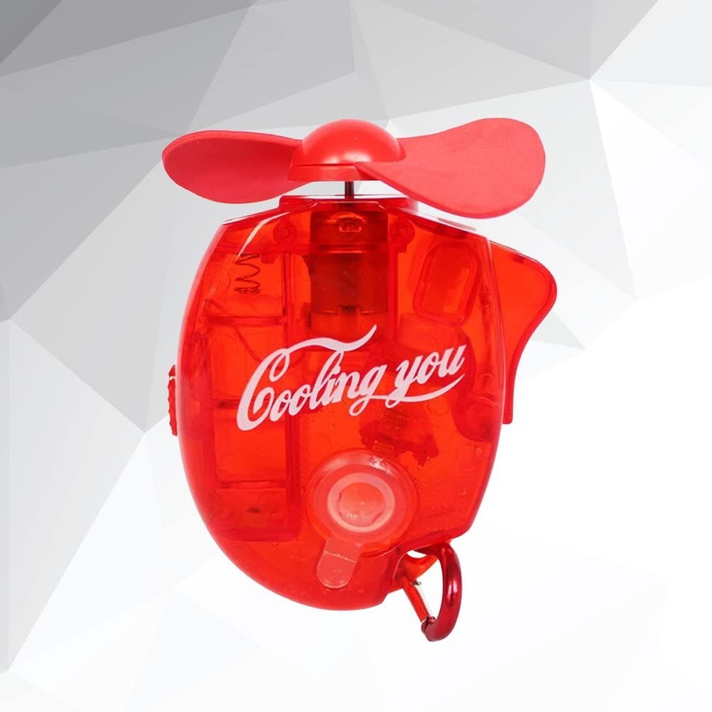 Red BESPORTBLE Portable Mini Water Spray Fan Handy Cooler Personal Fan for Indoor and Outdoor Use Summer Fan