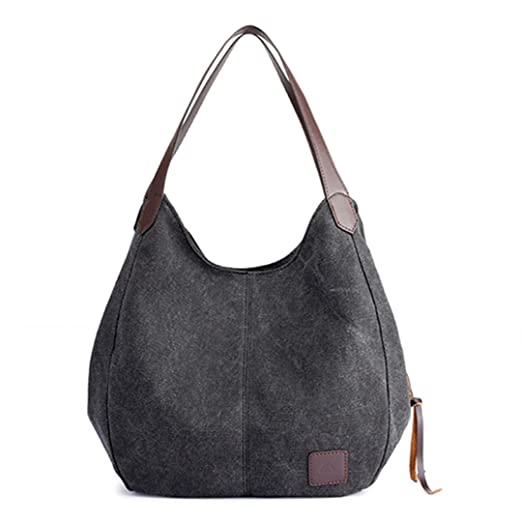 Amazon.com: Canvas Bag Vintage Canvas Shoulder Bag Women H ...