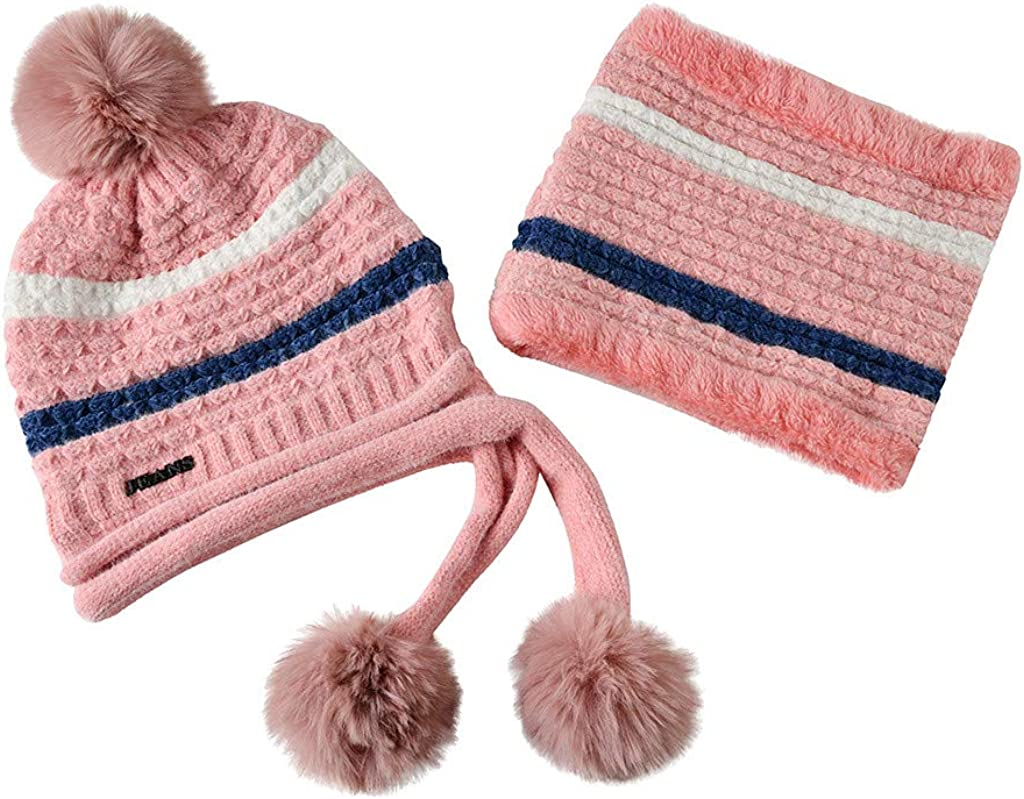 Casual Knit Cap for Men Women Neon Rainbow Cat Ski Cap