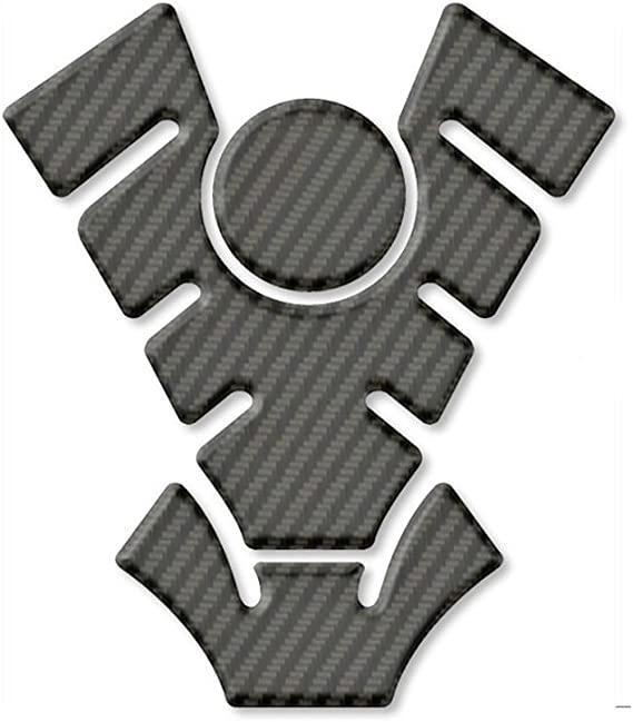 STREET WISE  MOTOR CYCLE  TANK PROTECTION STICKERS  CARBON FIBRE EFFECT  BLACK