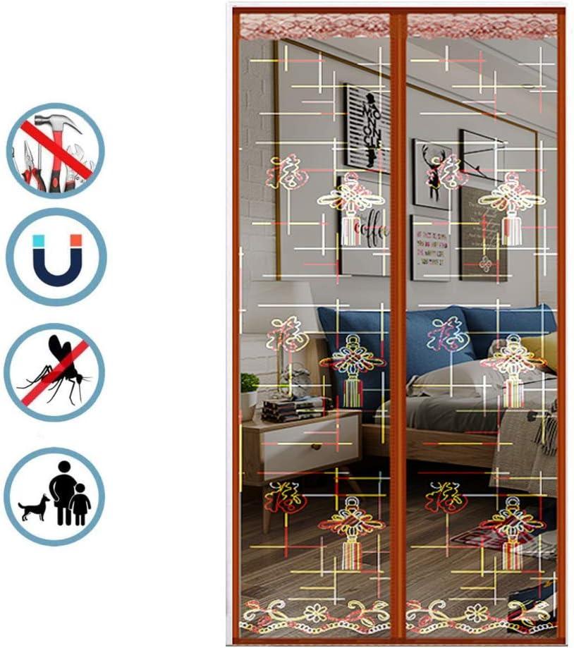 DEDECP Mosquitera Doble Puerta Exterior magnética, Puerta Lateral corredera mosquitera con imán, para terraza/habitación C 90CM*230CM: Amazon.es: Hogar
